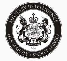 Secret Service Crest - sticker - BLACK by bengrimshaw