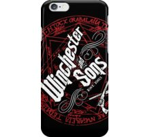 Winchester & Sons (Red Sigil) iPhone Case/Skin