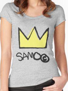 Basquiat SAMO Crown Women's Fitted Scoop T-Shirt
