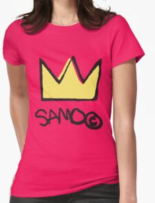 Basquiat SAMO Crown Womens Fitted T-Shirt