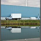 Truck & Wind Turbine by Mikell Herrick