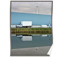Truck & Wind Turbine Poster