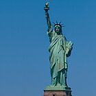 Statue of Liberty with Blue Sky by Diana Beato
