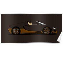 2014 Bugatti Veyron 16.4 Grand Sport Vitesse Bugatti Legend Rembrandt Poster