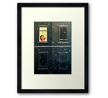It's snowing! Framed Print