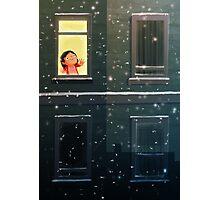 It's snowing! Photographic Print