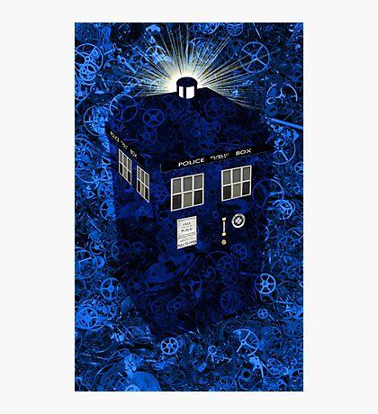 TARDIS Illustrated- Clockwork Photographic Print