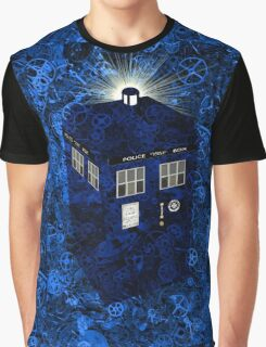 TARDIS Illustrated- Clockwork Graphic T-Shirt