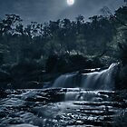 Broken Falls in Moonlight by pablosvista2