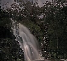 Third Falls, Morialta in Moonlight by pablosvista2