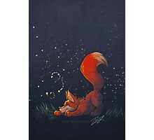 Firefly Fox - Red Photographic Print