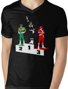 Black Ranger Power Mens V-Neck T-Shirt