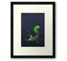Firefly Fox - Green Framed Print