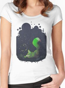 Firefly Fox - Green Women's Fitted Scoop T-Shirt