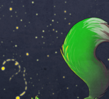 Firefly Fox - Green Sticker