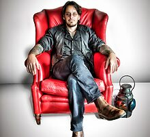 MattR ~ Red Chair (HDRI Portrait) by James Zickmantel