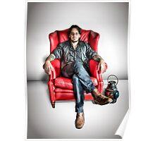 MattR ~ Red Chair (HDRI Portrait) Poster