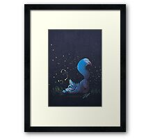 Firefly Fox - Blue Framed Print