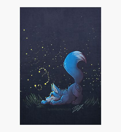 Firefly Fox - Blue Photographic Print