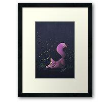 Firefly Fox - Pink Framed Print