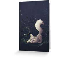 Firefly Fox - White Greeting Card