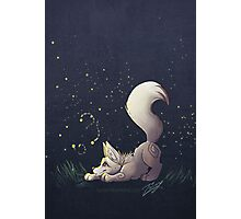 Firefly Fox - White Photographic Print
