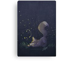 Firefly Fox - Grey Canvas Print