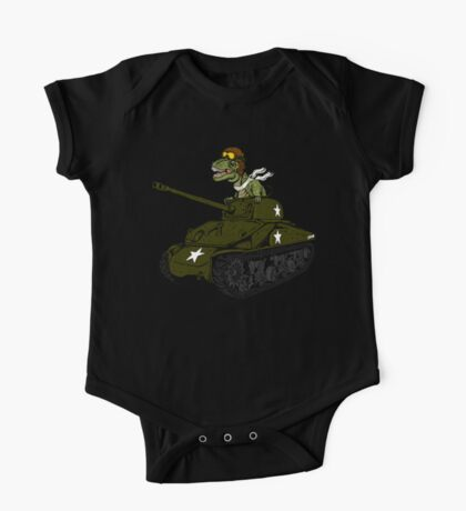 T-Rex in a Tank One Piece - Short Sleeve