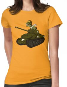 T-Rex in a Tank Womens Fitted T-Shirt