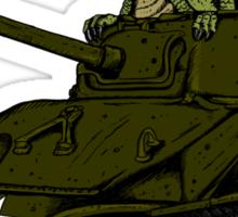 T-Rex in a Tank Sticker