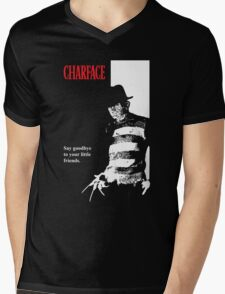 Charface Mens V-Neck T-Shirt
