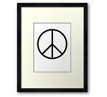 Ban the Bomb, Peace, symbol, Old school, original, CND, Trident, Campaign for Nuclear Disarmament Framed Print