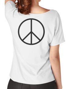 Ban the Bomb, Peace, symbol, Old school, original, CND, Trident, Campaign for Nuclear Disarmament Women's Relaxed Fit T-Shirt