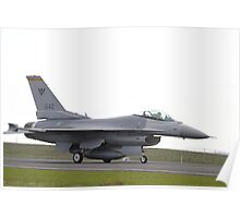 F-16 taxi Singapore Air Force Poster