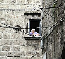 At The Window by Valentino Visentini