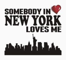 Somebody In New York Loves Me Kids Tee