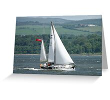 Claymore under sail Greeting Card