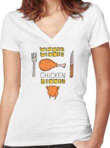Winner Winner Chicken Dinner: Loud and Proud Rotisserie Chicken Windfall Women's Fitted V-Neck T-Shirt