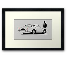 Aston Martin DB5 - James Bond Framed Print