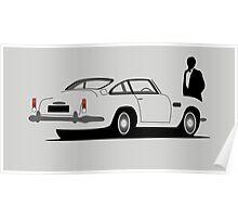 Aston Martin DB5 - James Bond Poster