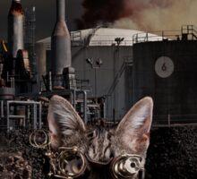 Steampunk Sid Kitten Overlord Sticker