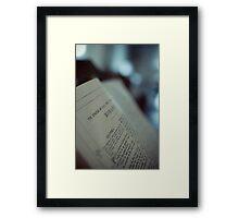 Romans Chapter I Framed Print