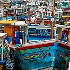 Sri Lankan Fishing Boats by Kerry Purnell