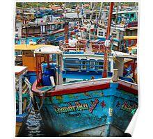 Sri Lankan Fishing Boats Poster