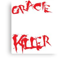 gracie killer  Canvas Print