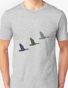 Three Tartan Flying Ducks T-Shirt Unisex T-Shirt