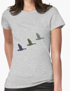Three Tartan Flying Ducks T-Shirt Womens Fitted T-Shirt