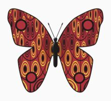 Red butterfly Baby Tee
