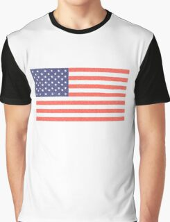 AMERICAN FLAG, FADED, AMERICA, USA, STARS & STRIPES, PURE & SIMPLE Graphic T-Shirt