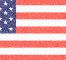 AMERICA, AMERICAN FLAG, FADED, USA, STARS & STRIPES, PURE & SIMPLE Sticker